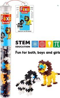 Play Panda Fixi Bricks Jungle Tube 2 - Lion and Zebra