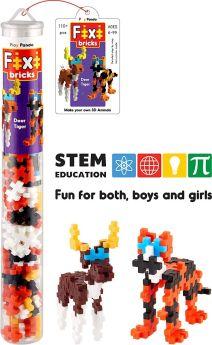 Play Panda Fixi Bricks Jungle Tube 3 - Tiger and Deer