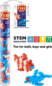 Play Panda Fixi Bricks Aqua Tube 1 - Dolphin and Clown fish