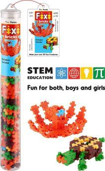 Play Panda Fixi Bricks Aqua Tube 2 - Octopus and Tortoise