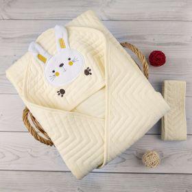 Baby Moo-Bunny Yellow Quilt