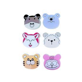 Baby Moo-Animal Face Multicolour 6 Pk Mini Storage Box