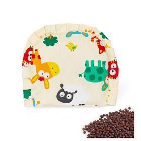 Baby Moo-I Love Animals Beige Rai Pillow
