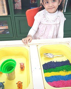Glee Natural Toys-1 KG Rainbow Rice - Sensory Rice
