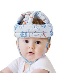 Baby Moo-I Love Animals Blue Cushioned Safety Helmet