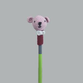 Plum Tales-Set of 3Handcrafted Amigurumi Pencil Topper Bear _Random Color