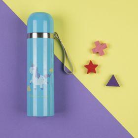 Baby Moo-Whimsical Unicorn Blue 500Ml Flask