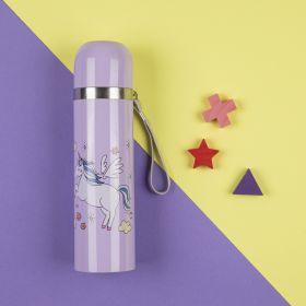 Baby Moo-Whimsical Unicorn Purple 500Ml Flask
