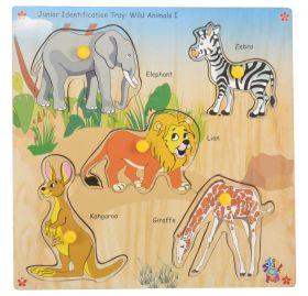 Skillofun-Junior Identification Tray  Wild Animals I