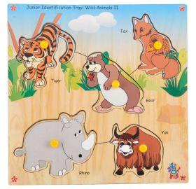 Skillofun-Junior Identification Tray  Wild Animals II