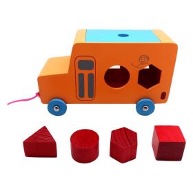Skola Toys - Pull Along Shape Bus