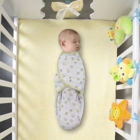 Baby Moo-Honey Bee White & Green Ready Swaddle