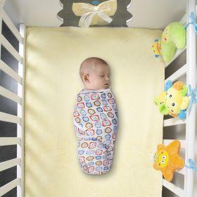 Baby Moo-Clocks Blue Muslin Swaddle