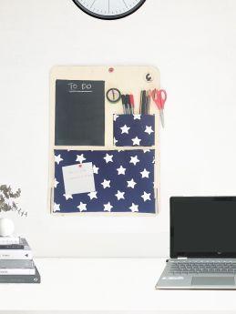 CuddlyCoo-Stationery Organizer with Pinboard and Blackboard Large