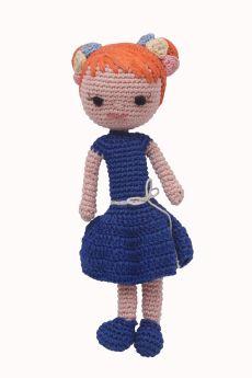 Happy Threads-Amigurumi Soft Toy- Pretty Girl Doll