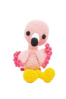 Happy Threads-Amigurumi Soft Toy- Handmade Crochet- Jolly Flamingo
