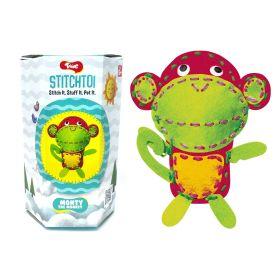 Toiing Stitchtoi Monty The Monkey: DIY Felt Stitching Kit