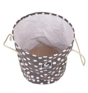 CuddlyCoo-Storage Bag - Grey Polka