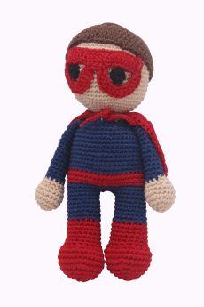 Happy Threads-Amigurumi Soft Toy- Superhero Doll