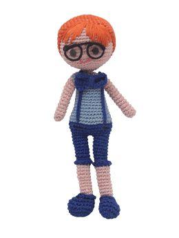 Happy Threads-Amigurumi Soft Toy- Clever Boy Doll