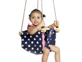 CuddlyCoo-Toddler Swing - Blue Star