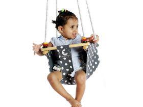 CuddlyCoo-Toddler Swing - Grey Polka