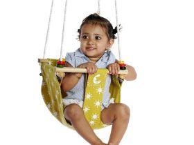 CuddlyCoo-Toddler Swing - Mustard Sun
