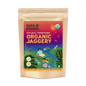 Tots and Moms Foods Organic Jaggery | Natural Sweetener for Kids Porridge, Puree, Pancake, Cereal, Smoothie, Health Drink, Dessert- 300g