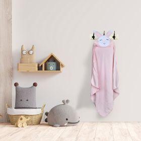 Baby Moo-Cute Bunny Pink Animal Hooded Towel