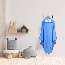 Baby Moo-Penguin Blue Animal Hooded Towel
