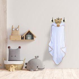 Baby Moo-Giraffe White Animal Hooded Towel