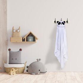 Baby Moo-Sleepy Panda White Animal Hooded Towel