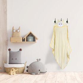 Baby Moo-Animal Print Yellow Animal Hooded Towel