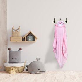 Baby Moo-Kitty Pink Animal Hooded Towel
