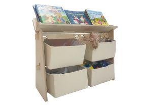 CuddlyCoo-Toy Organizer with Book Shelf