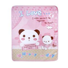 Baby Moo-BFF Bear Pink Washable Mat
