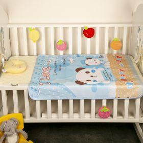 Baby Moo-BFF Bear Light Blue Washable Mat
