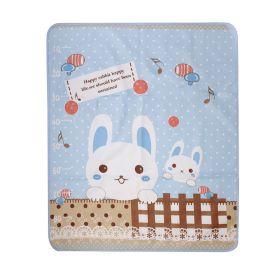 Baby Moo-Smart Bunny Blue Washable Mat