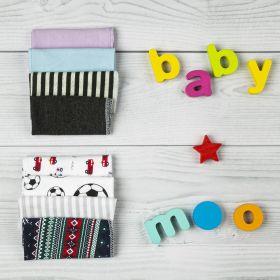 Baby Moo-Printed (2425) Multicolour 8 Pk Wash Cloth