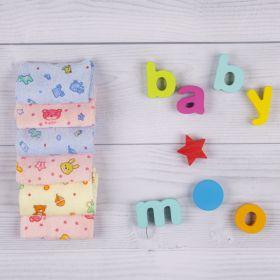 Baby Moo-Mixed Prints 16X16 Cm Multicolour 6 Pk Wash Cloth