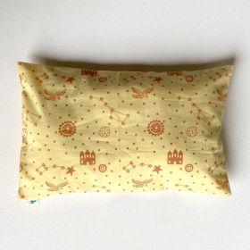whitewater kids gift set - organic dhruvtara print kapok pillow + maracus