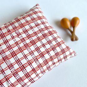 whitewater kids gift set - organic manjha print kapok pillow + maracas