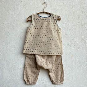 whitewater kids unisex organic zoo indigo raidana jhabla with matching pants