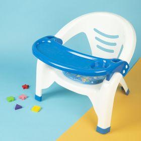 Baby Moo-Feeding Blue Chair