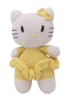 Happy Threads-Amigurumi Soft Toy- Yellow Hello Kitty